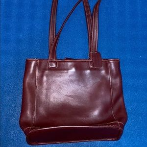 LEATHER COACH BUCKET TOTE